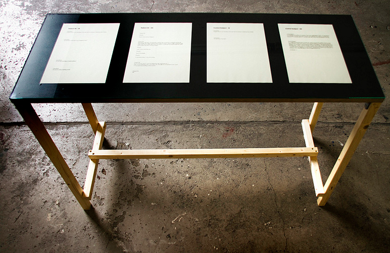 Detail installation view of Ciarán Walsh