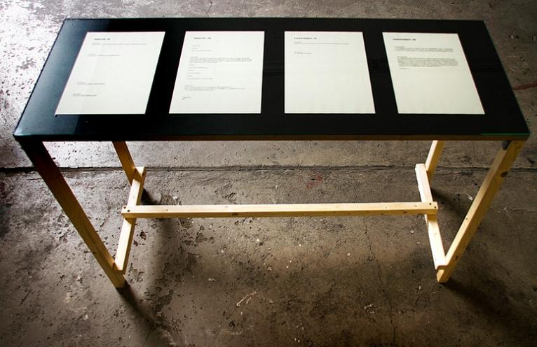 Detail installation view of Ciarán Walsh