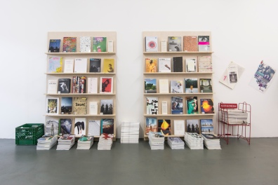 Installation view of Summer Issues Cooperative, Greene Exhibitions, Los Angeles, June 26–July 13, 2013.