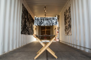 Installation view of 'For an idea of the desert: Nora Jean Petersen and Fay Ray. Joshua Tree. August 31, 2013.