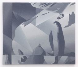 Alika Cooper Top, 2014 Fabric, adhesive, wood 24 x 30 x 1 ¼ inches (60.9 x 76.2 cm)