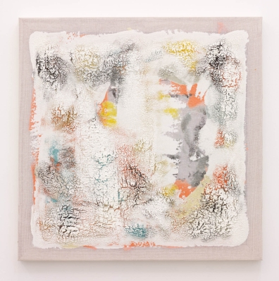 Kristin Beinner James Quince, Cabbage, Melon and Cucumber, 2014 Acrylic and wax on cotton 32 x 32 x 1 ½ inches (81.2 x 81.2 x 3.8 cm)