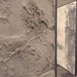 Rod Fahmian, Untitled, (detail), 2014, concrete, plywood, and steel, 78 x 37 x 2 inches
