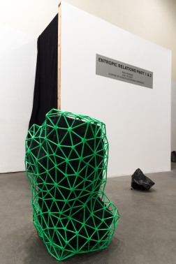 Installation view of Entropic Relations Part 2: Zaid Yousef, 2014