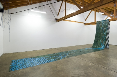 Installation view of Clarissa Tossin: Encontro das Águas (Meeting of Waters), 2016, JOAN, Los Angeles, Photo by Jeff McLane.